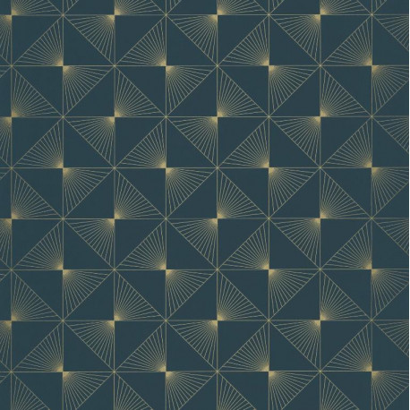 Papier Peint Lines Motifs Geometriques Bleu Fonce Spaces Caselio