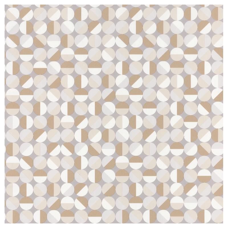 Papier Peint Curves Motifs Geometriques Beige Spaces Caselio
