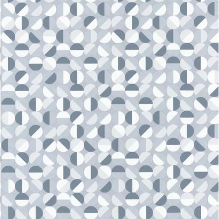 Papier peint Curves Bleu/Gris – SPACES – Caselio