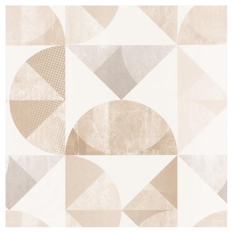 Papier Peint Graphic Motifs Geometriques Beige Spaces Caselio