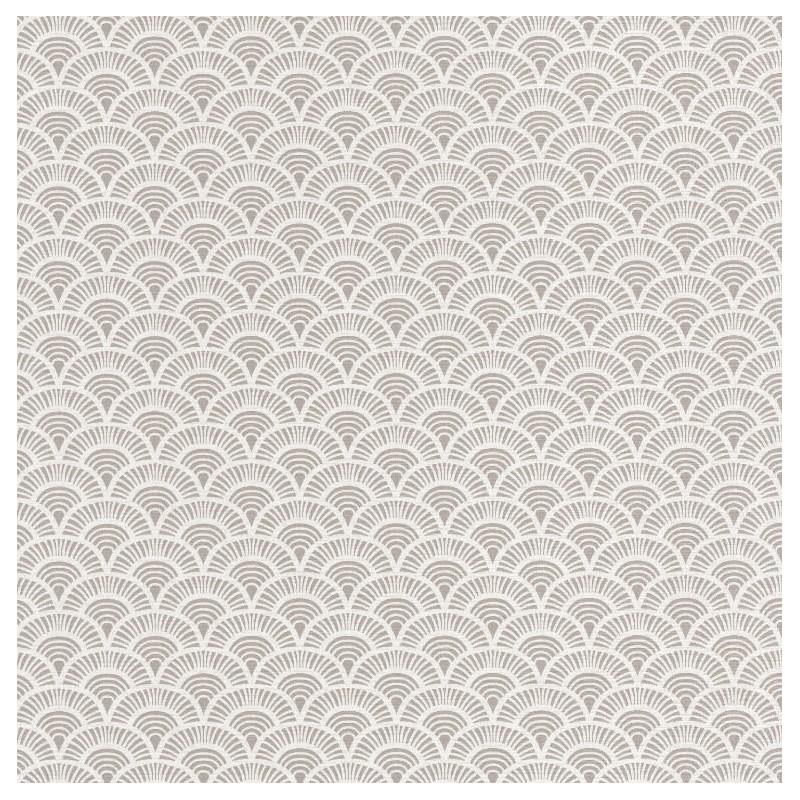 papier peint palmeta blanc et gris ventail acapulco caselio. Black Bedroom Furniture Sets. Home Design Ideas