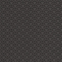 Papier peint Palmeta noir et gris – Acapulco - Caselio