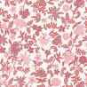 Papier peint Bohemia floral rose sur fond blanc – Acapulco - Caselio