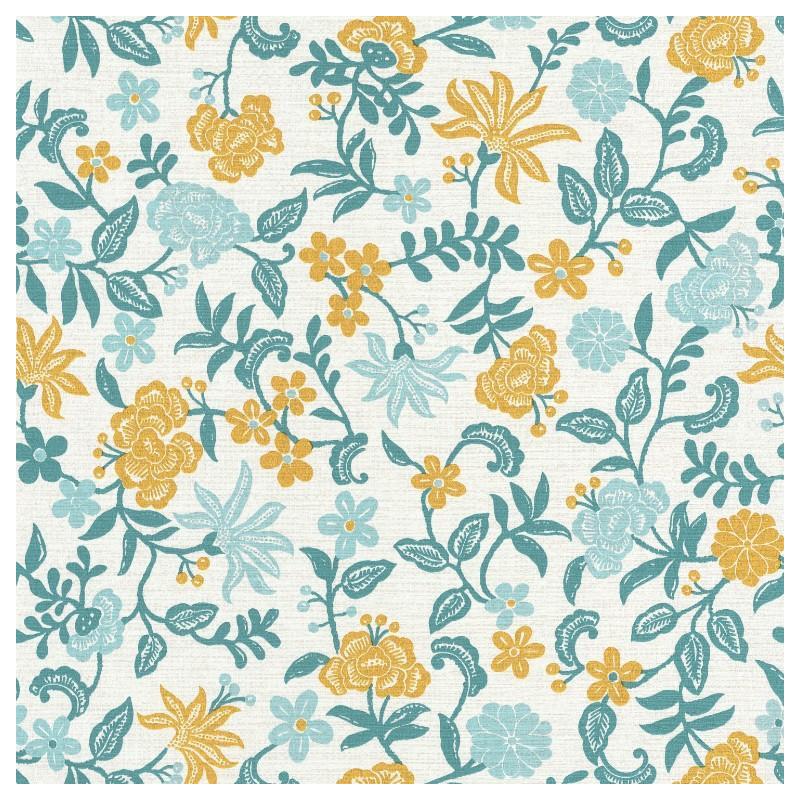 Papier peint Bohemia turquoise et jaune – ACAPULCO - Caselio - ACAP69936026
