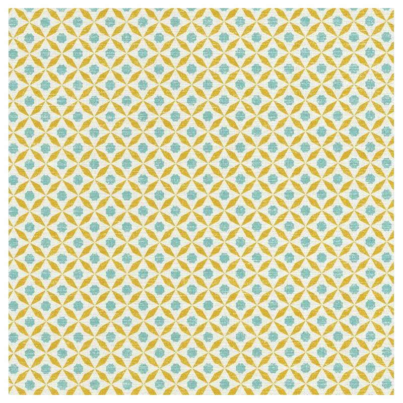 Papier Peint Juba Geometrique Bleu Et Jaune Acapulco Caselio