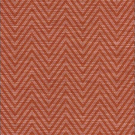 Papier peint Canvas lignes géométriques rouge – Acapulco - Caselio