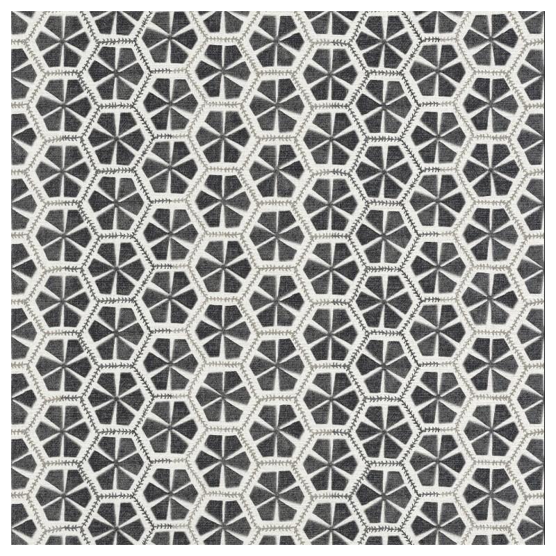 Papier peint Mandala géométrique gris foncé – ACAPULCO – Caselio