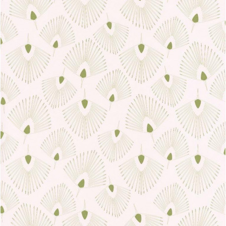 Papier peint Eventails beige - JUNGLE - Caselio - JUN100077414