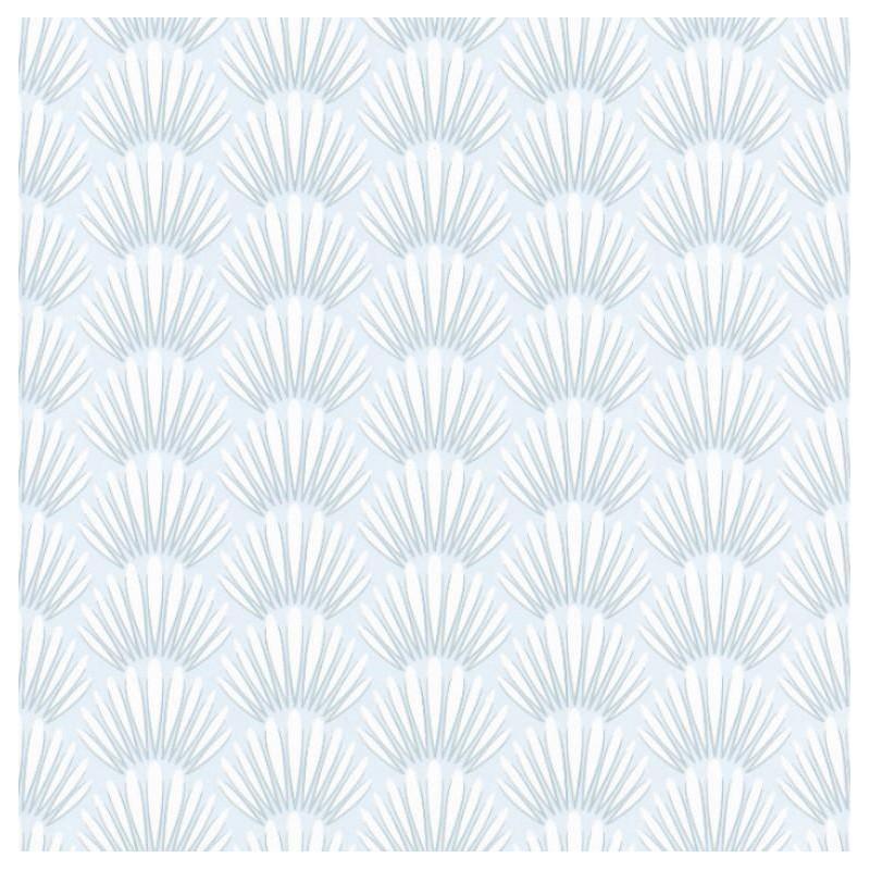 Papier peint Canopee Motifs tropicaux bleu – JUNGLE - Caselio