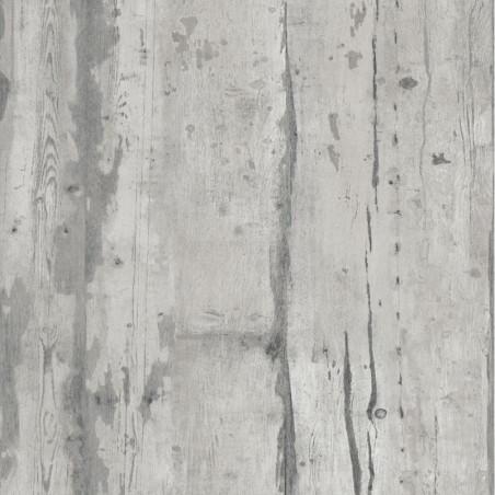 Papier peint vinyle trompe l'oeil effet bois gris vintage - FAUX SEMBLANT - UGEPA