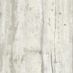 Papier peint vinyle trompe l'oeil effet bois gris beige vintage - FAUX SEMBLANT - UGEPA