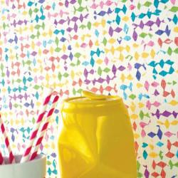 Papier peint vinyle POP à motifs pépites multico - Dix - Caselio