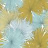 Papier peint Coconut Motifs feuilles de cocotier nuances de bleu/vert/jaune – JUNGLE - Caselio