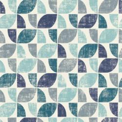 Papier peint intissé Hélice motifs graphiques bleus - Home style Rasch