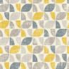 Papier peint intissé motifs graphiques jaune et gris - Home style Rasch