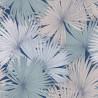 Papier peint Coconut Motifs feuilles de cocotier nuances de bleu et rose pâle sur fond bleu foncé – JUNGLE - Caselio