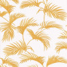 Papier peint Palmes Motifs feuilles de palmier orange sur fond beige – JUNGLE - Caselio