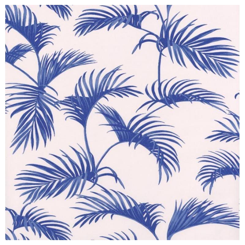 Papier Peint Palmes Feuilles De Palmier Bleu Fonce Jungle Caselio