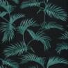 Papier peint Palmes Motifs feuilles de palmier vert sur fond noir – JUNGLE - Caselio