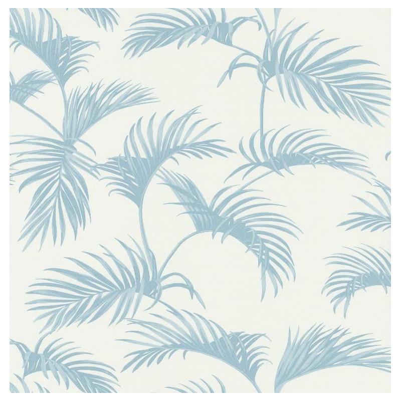 Papier Peint Palmes Feuilles De Palmier Bleu Clair Jungle Caselio