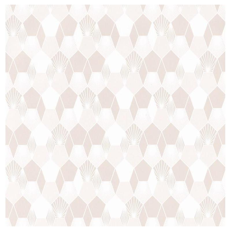 Papier peint Hamac Motifs nids d'abeilles beige et blanc – JUNGLE - Caselio