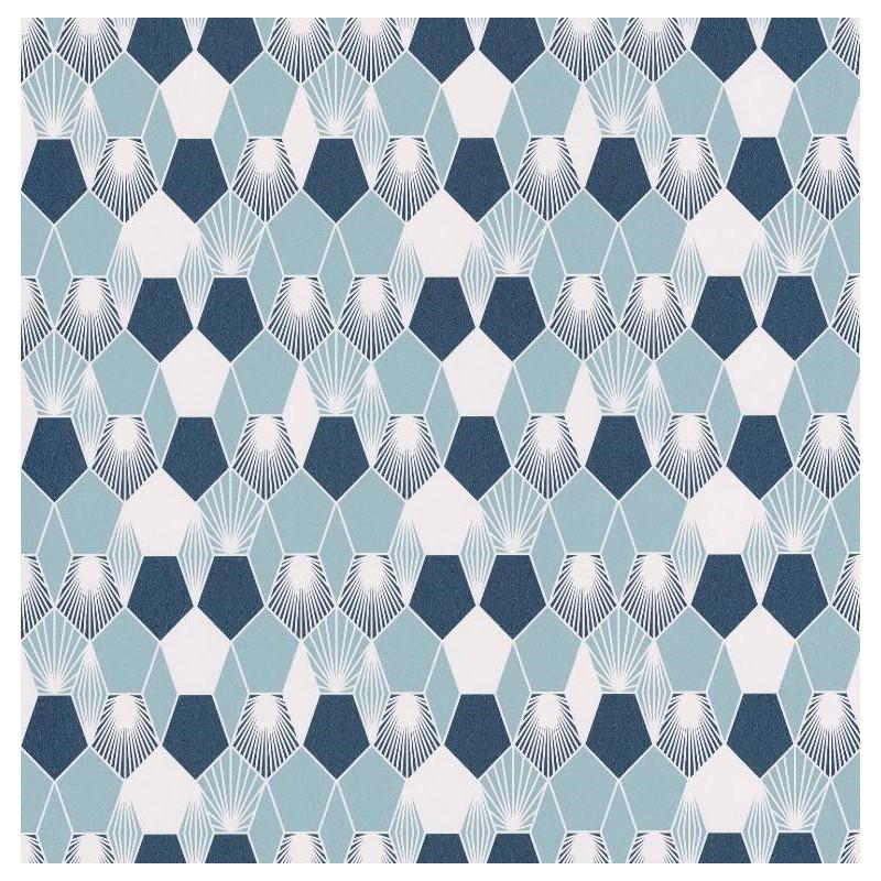 Papier Peint Hamac Nuances De Bleu Et Blanc Jungle Caselio