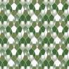Papier peint Hamac Motifs nids d'abeilles nuance de vert– JUNGLE - Caselio