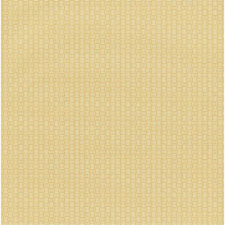Papier peint Natte Tressage jaune – JUNGLE - Caselio