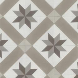 Revêtement PVC - Largeur 4m - CORDOBA beige carreaux de ciment étoiles - Texline Gerflor