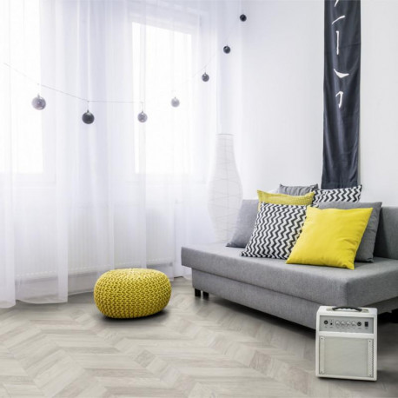 Revêtement PVC -  Paris white parquet chevrons - Texline Gerflor - rouleau 4M
