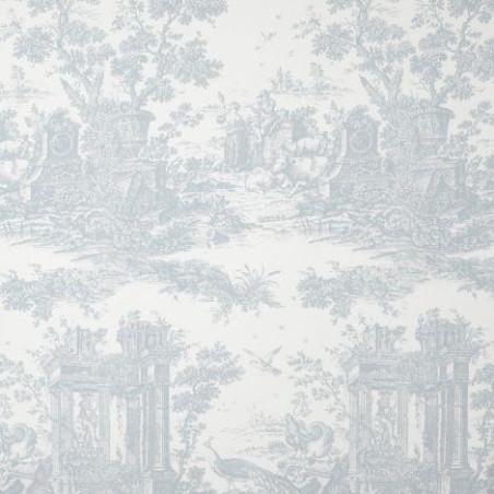 Tissu Paon bleu - FONTAINEBLEAU - Casadeco