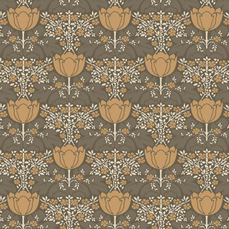 Papier peint Fox Trot marron - BELLE EPOQUE - Casadeco - BEEP82232439