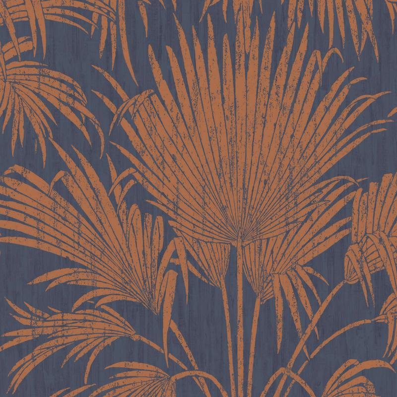 Papier peint Josephine Foil bleu et cuivre - BELLE EPOQUE - Casadeco - BEEP82246415