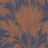 Papier peint intissé JOSEPHINE FOIL bleu/cuivre - Belle Epoque Casadeco