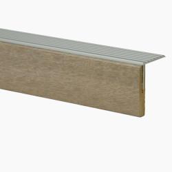 Marche palière + profilé en Aluminium chêne Alabama 106 - Concept d'escalier Maëstro Steps