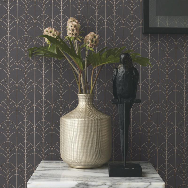 Papier peint Filament noir - BELLE EPOQUE - Casadeco - BEEP82269512