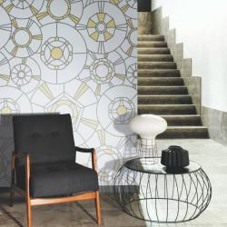 Panoramique Grand Café noir et or - BELLE EPOQUE - Casadeco - BEEP82299210