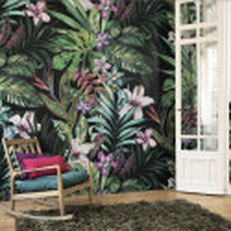 Panoramique JARDIN TROPICAL Motif floral multicouleurs – PANAMA - Casadeco