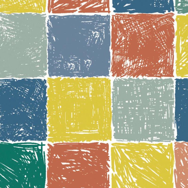 Sol PVC - Gribouille Multicolour - Iconik Confort TARKETT - rouleau 2M