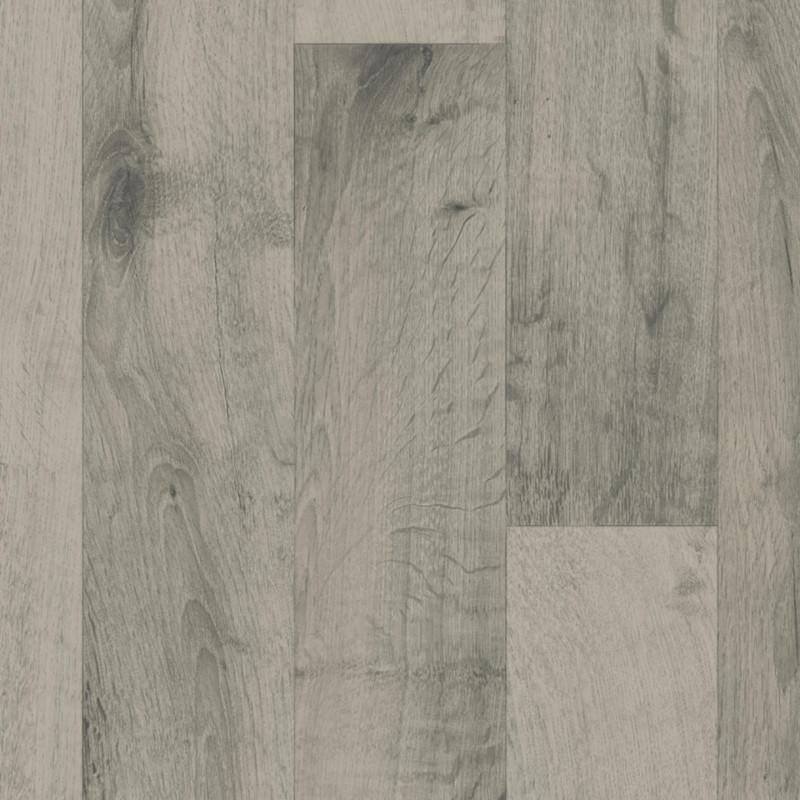 Sol PVC - Gea parquet gris clair - Iconik ResisTex TARKETT- rouleau 2M