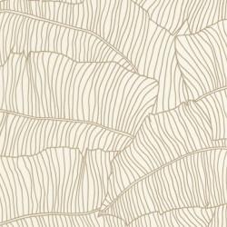 Papier peint intissé Bananier blanc et doré - Rasch