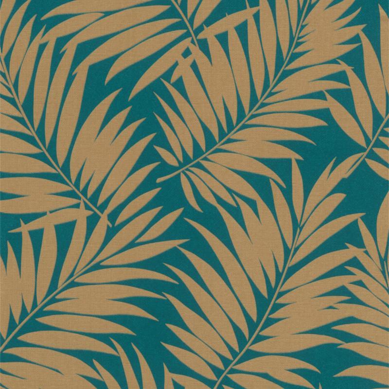 Papier peint Majorelle bleu et or - BARBARA HOME COLLECTION - Rasch - 527599
