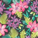Papier peint floral multicolore Tropical Bold Jungle fond noir - Rasch
