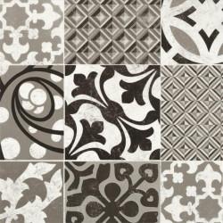 Revêtement PVC PROVENCE noir et blanc - Largeur 4m - Primetex Grain Gerflor