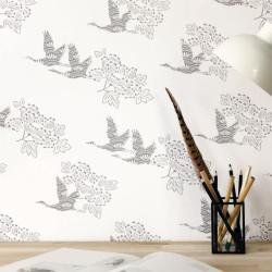 Papier peint TOBU gris foncé - HANAMI - Caselio