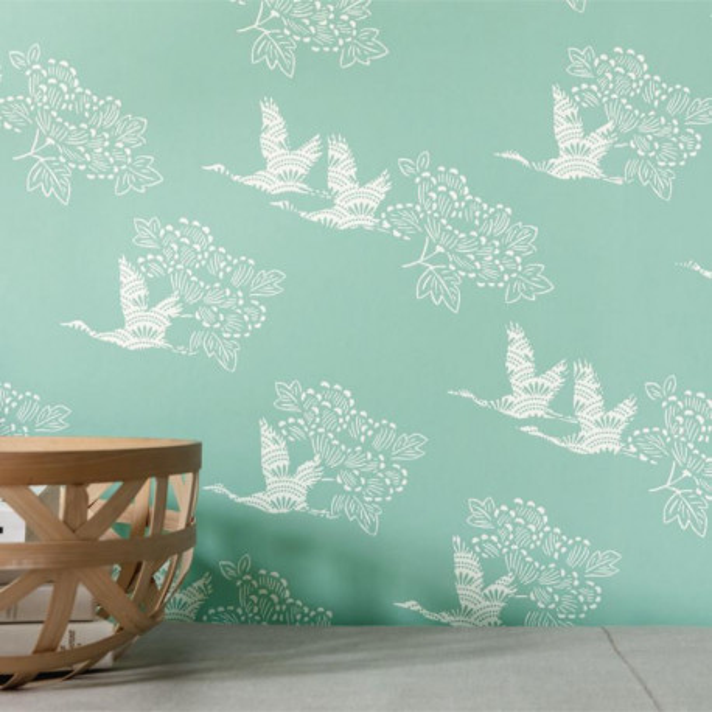 Papier peint Tobu vert opaline - HANAMI - Caselio - HAN100317010