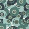 Papier peint WAGAZA vert amande, émeraude, gold - HANAMI - Caselio