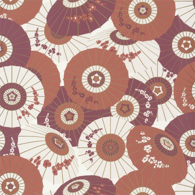 Papier peint Wagaza terracotta et gold - HANAMI - Caselio - HAN100323210
