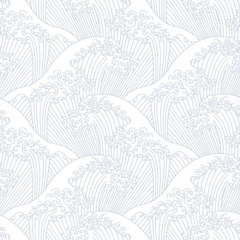 Papier peint Nami gris clair - HANAMI - Caselio - HAN100389404