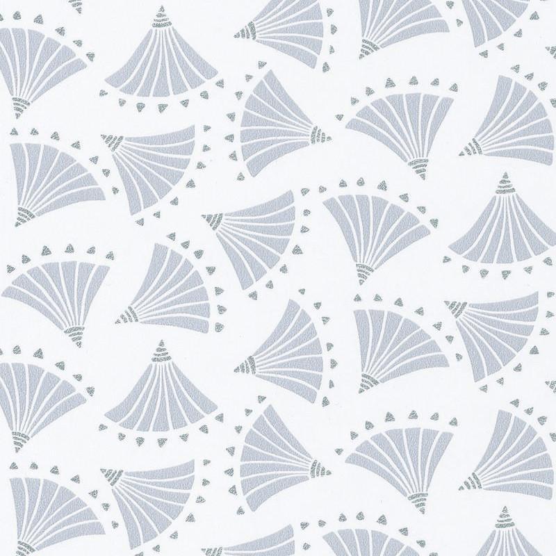 Papier peint Origami gris clair et argent HANAMI - Caselio - HAN100369217